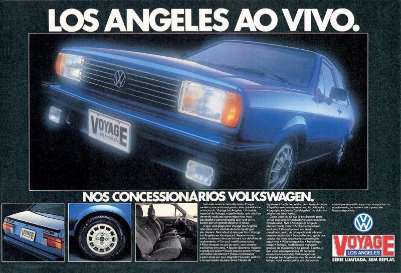 Volkswagen Voyage Los Angeles. Série limitada. Ao vivo. Sem replay.