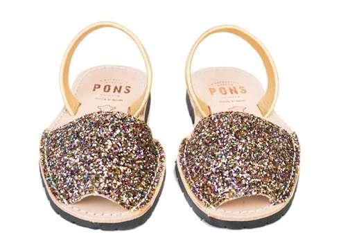 Avarcas Pons glitter sandals on Cool Mom Picks