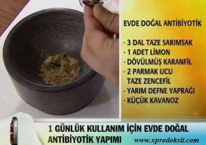 Doğal Antibiyotik Tarifi
