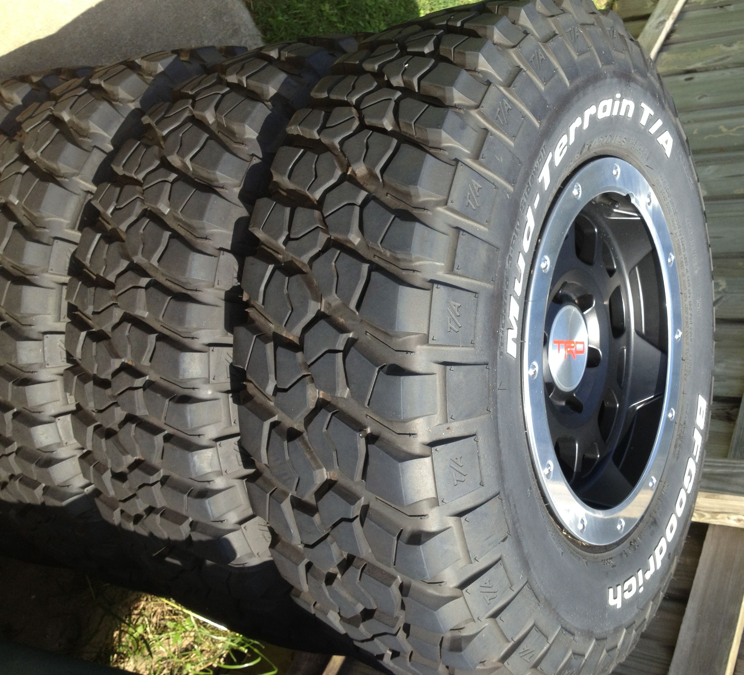 "Baton Rouge Truck Center >> 4) Toyota 16"" TRD Wheels & BFGoodrich Mud Terrain Tires ..."