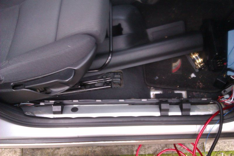 and the cables routed  i had various minor set backs like refitting the  engine bay grommet and needing to remove the seat for adequate access,