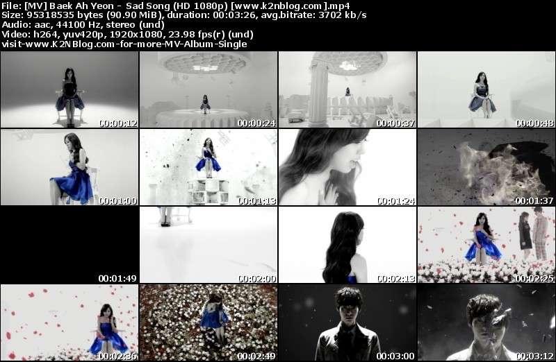 [MV] Baek Ah Yeon -  Sad Song (HD 1080p Youtube)