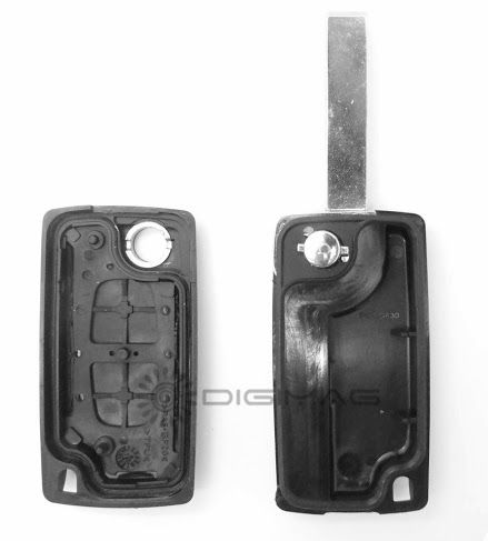 plip key remote shell peugeot 2 button 107 207 307 407 ce0523 without groove ebay. Black Bedroom Furniture Sets. Home Design Ideas