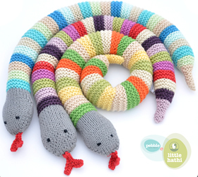 Year of the Snake baby gifts: Crochet snake rattle