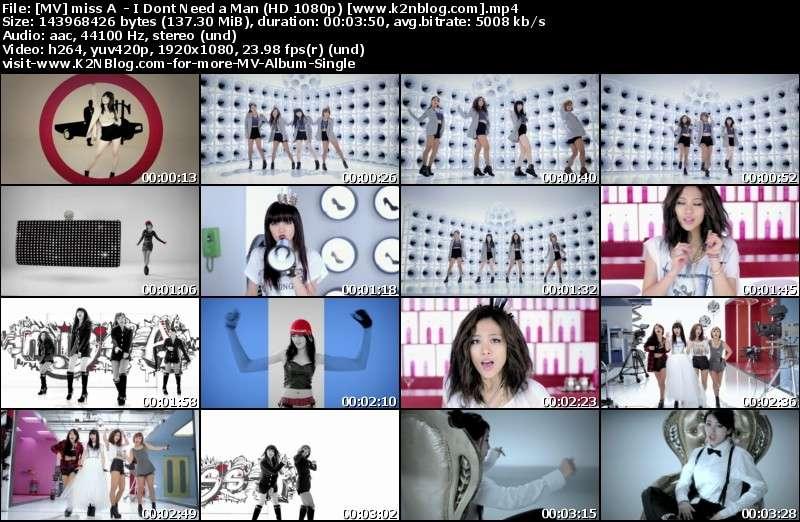 [MV] Miss A - I Don't Need a Man (HD 1080p Youtube)