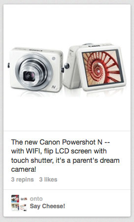 Canon Powershot N on Cool Mom Tech