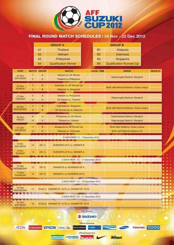 jadual aff suzuki cup 2012, muat turun suzuki cup 2012, jadual penuh aff suzuki cup 2012,