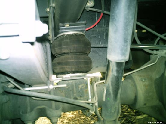 Air Springs Install Below The Frame Rails Over Axle B W Gn Above And Between Forward Of They Re Not Even Close To Each Other