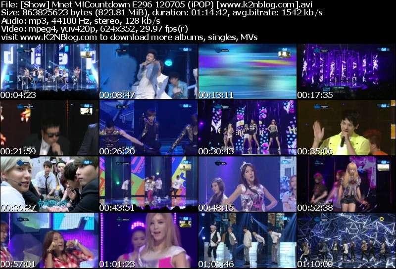 [Show] Mnet M!Countdown E296 120705