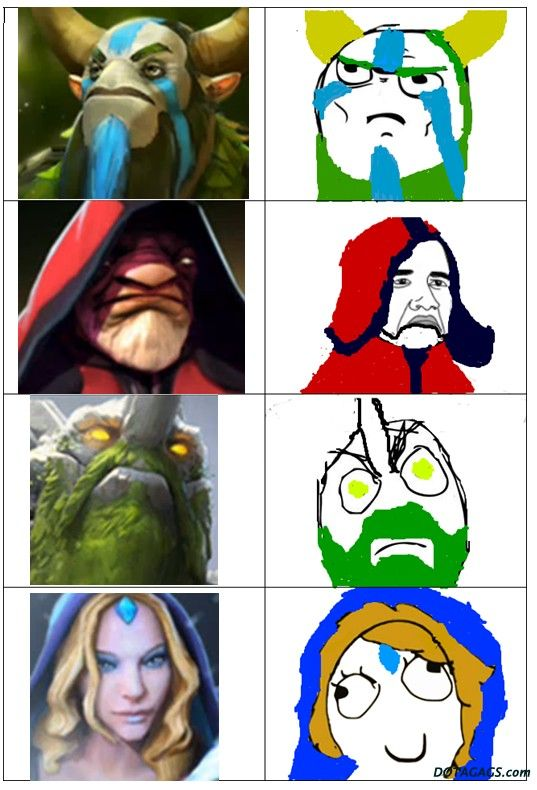 DotA 2 Heroes and Memes