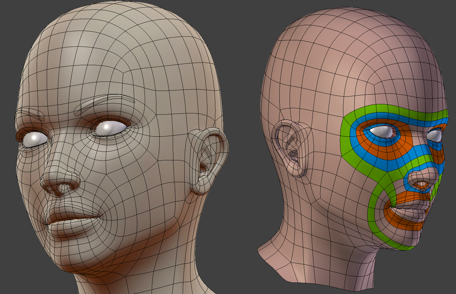 female head topology feedback � polycount
