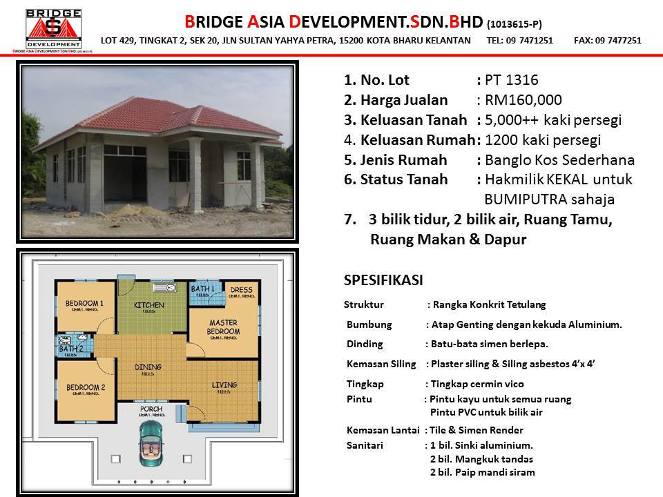 Banglo Kos Sederhana Bridge Asia Development