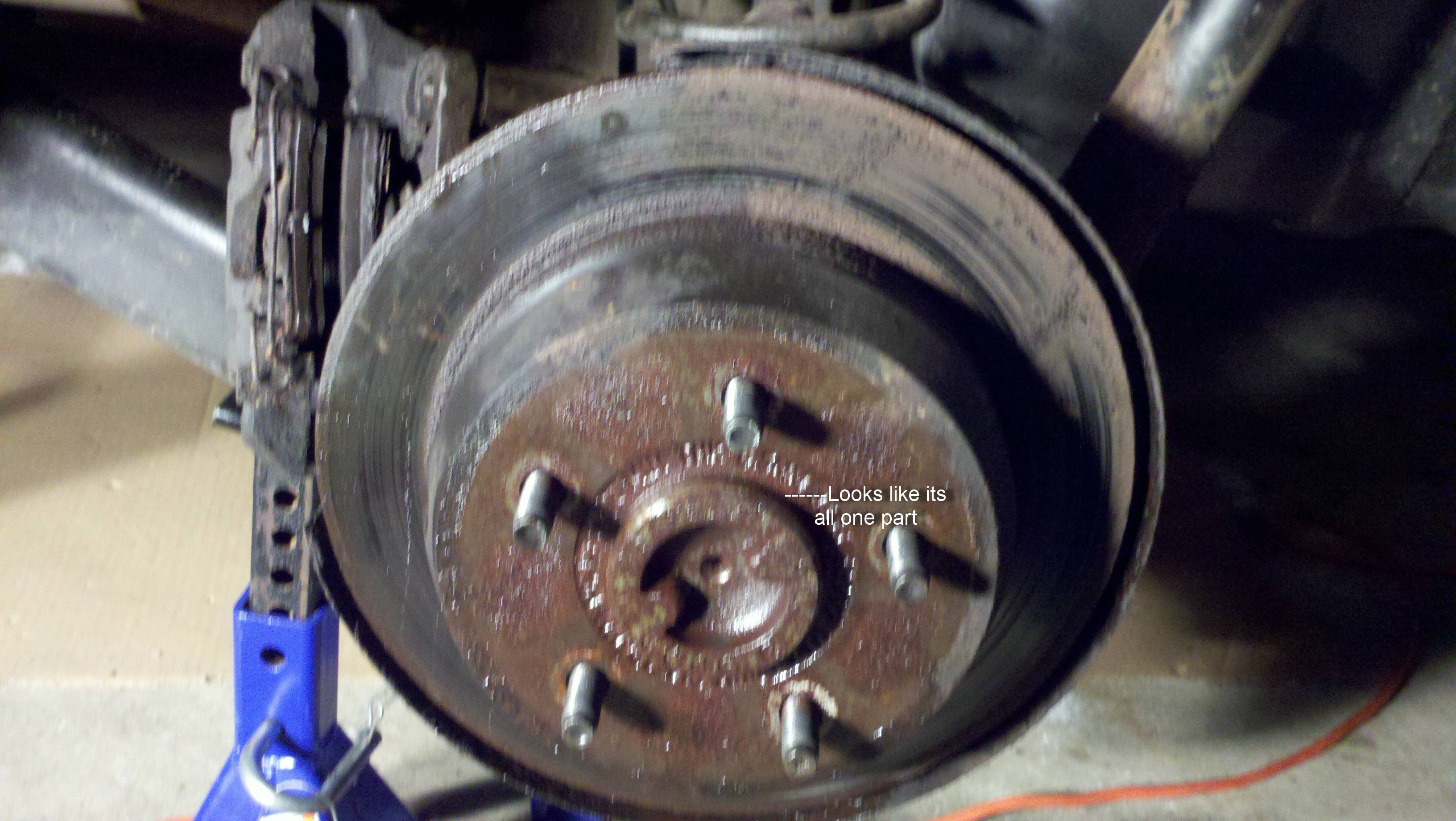 Rear rotor removal - JeepForum com