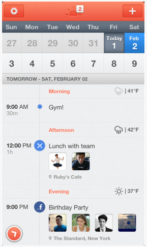 Free Sunrise Calendar app for iPhone