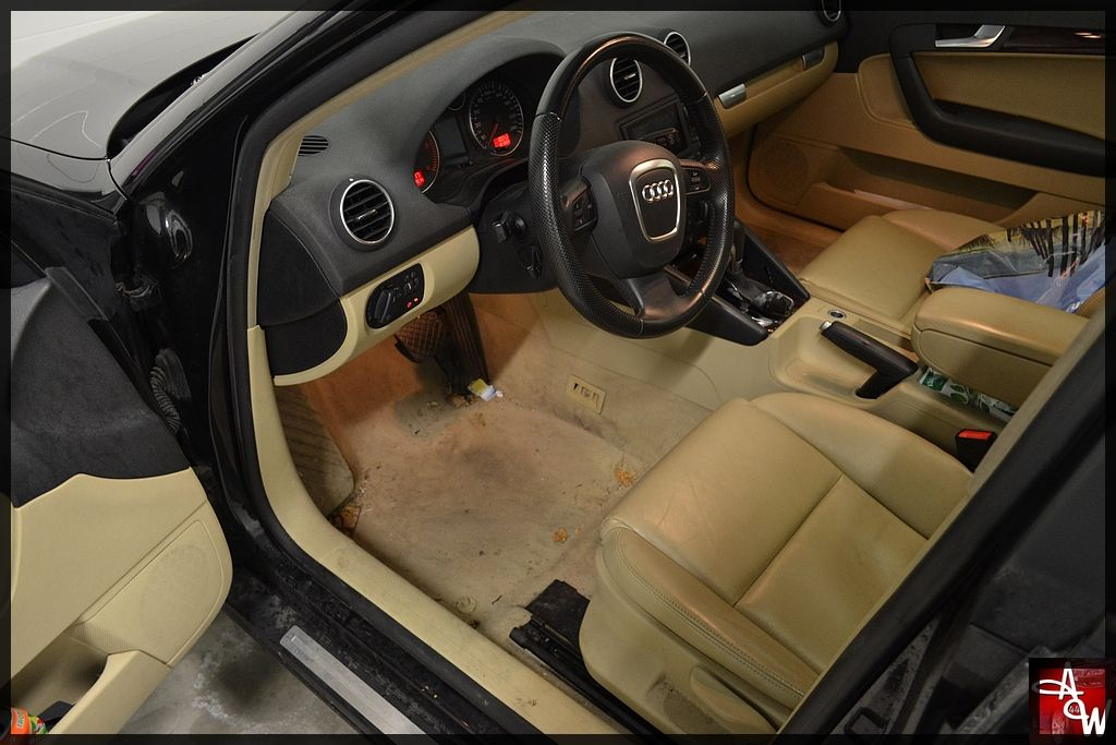 int rieur cuir audi a3 cuir beige traitement rayures detailing esthauto apprendre le. Black Bedroom Furniture Sets. Home Design Ideas
