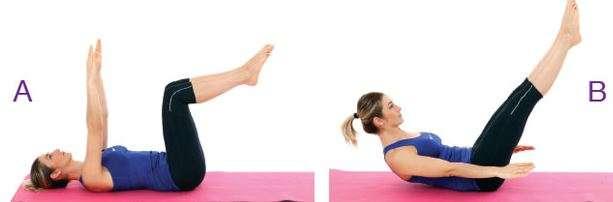 Pilates - Çift bacak karın kontrol