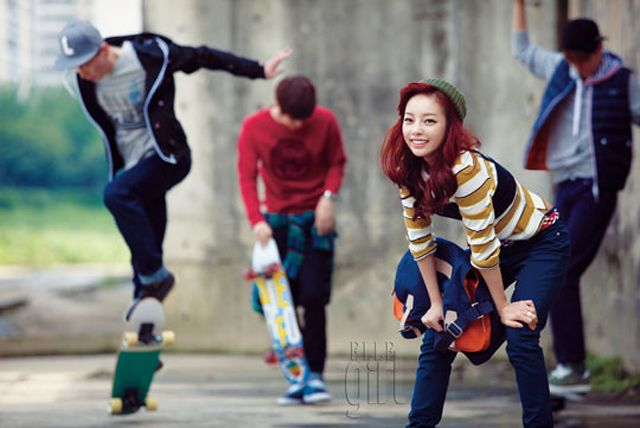 Sports Fanatic Goo Hara Models Lacoste Live In The October