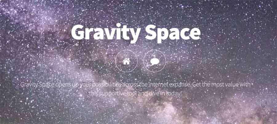 Ogłoszenia prostu grawitacyjnie kosmosie