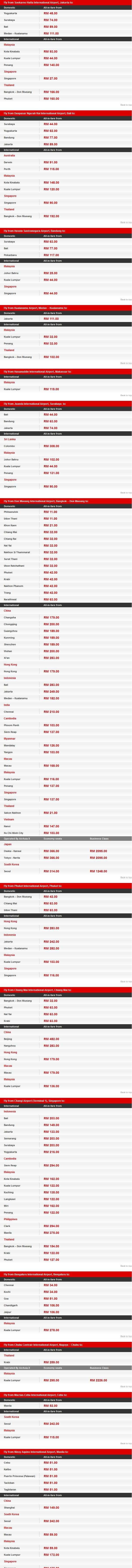 AirAsia Free Seats Promotion 2015 Fares Details