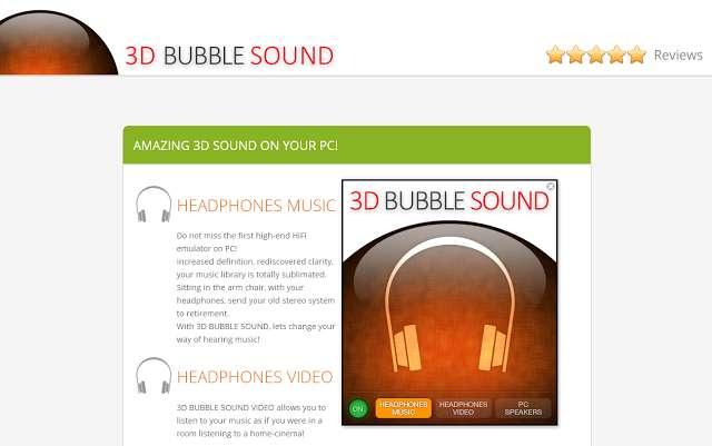 Verwijder DRIEDIMENSIONELE Bubble Sound