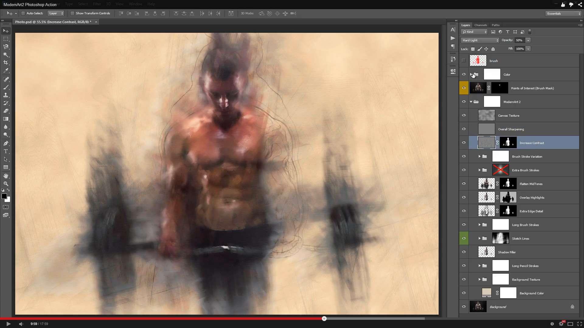 ModernArt 2 Photoshop Action – WooEnvato – Demo