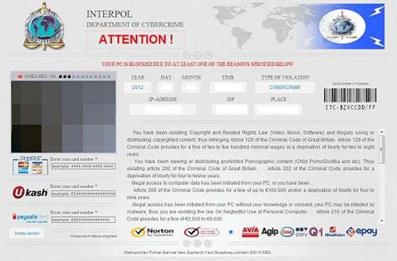 Delete Interpol / FBI Ransom scam