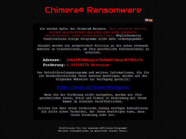 Verwijder Chimera Ransomware