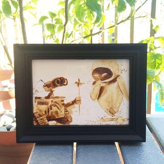 Maria A. Aristidou artiste peintre café