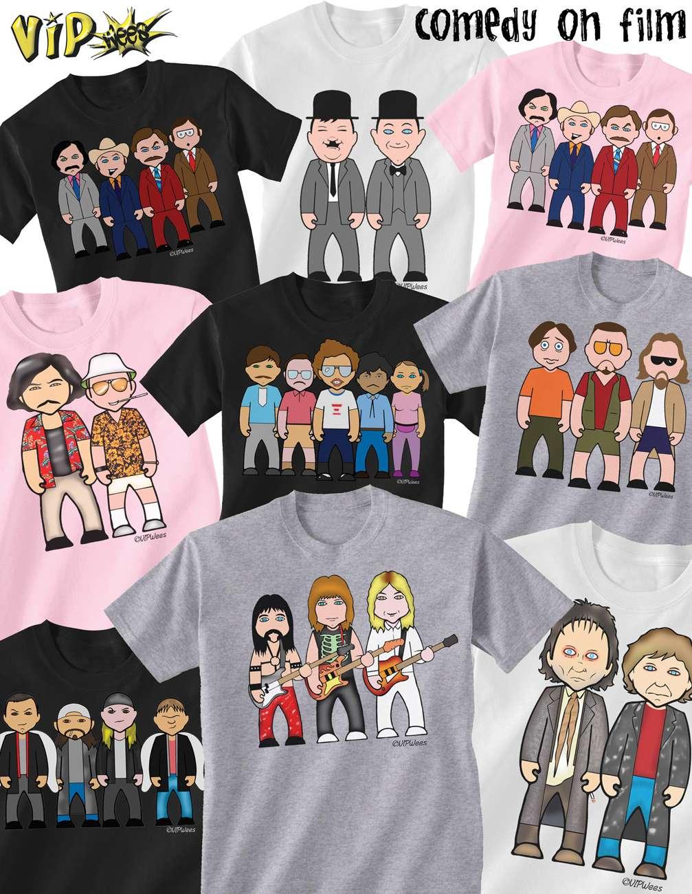 VIPwees Childrens Unisex T-Shirt Pop Music Inspired Caricatures Choose Design