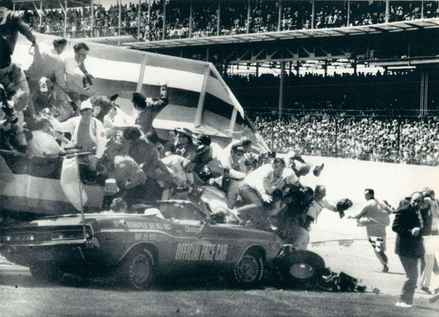 1971 Indianapolis 500 Eldon Palmer Indy Pace Car Crash