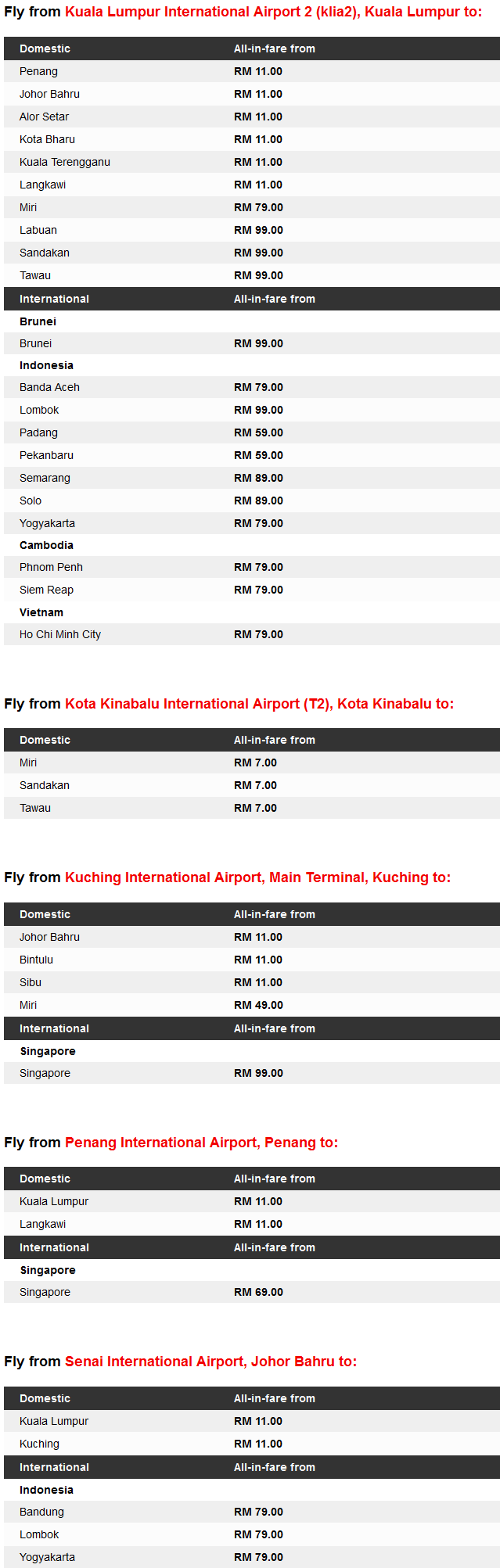 AirAsia RM1 June Promotion