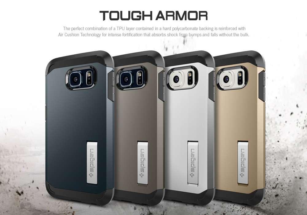 cheap for discount d8900 b1894 SPIGEN Galaxy S6 Case Tough Armor Champagne Gold Case