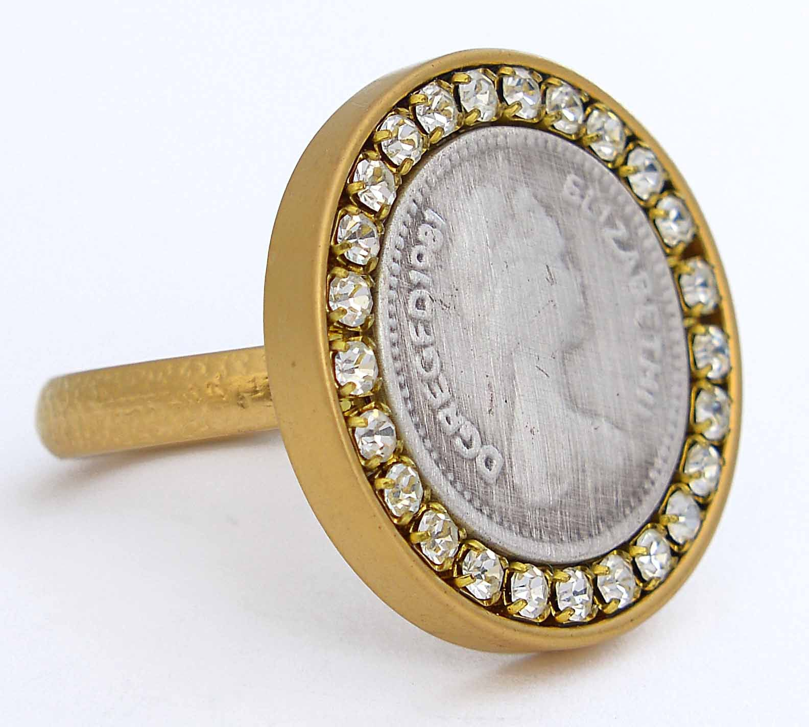 Gold Plated Sterling Silver Be a Queen Ring