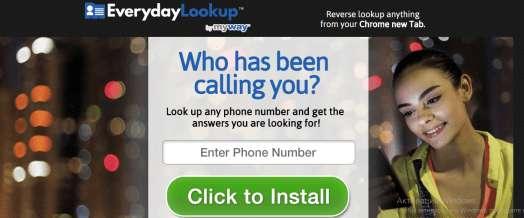 Delete EverydayLookup toolbar