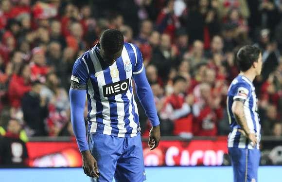 Jackson Martinez. Um espelho do que foi o FC Porto no Clássico da Luz / Fonte: MaisFutebol