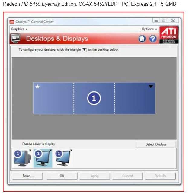 Trying to setup 2 VGA + 1 HDMI on HD 5450 card - Windows 7 Help Forums