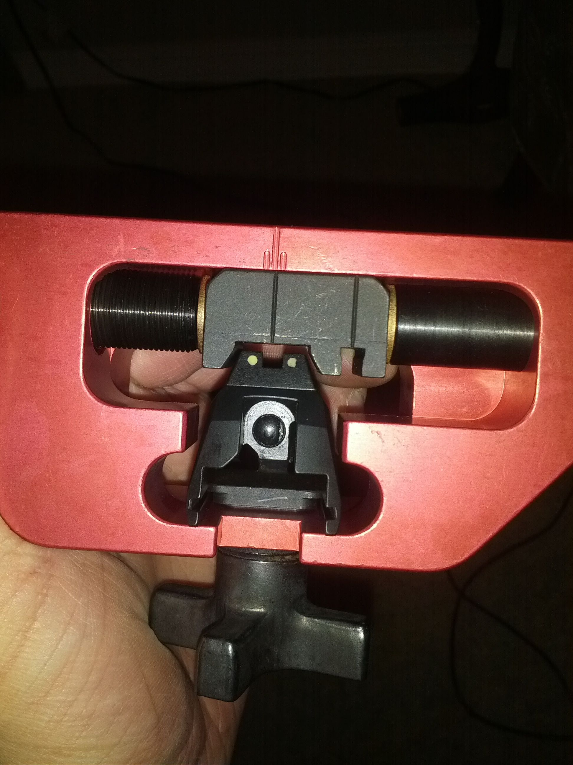 Inastalling Trijicon HD sights with MGW sight pusher  Is this