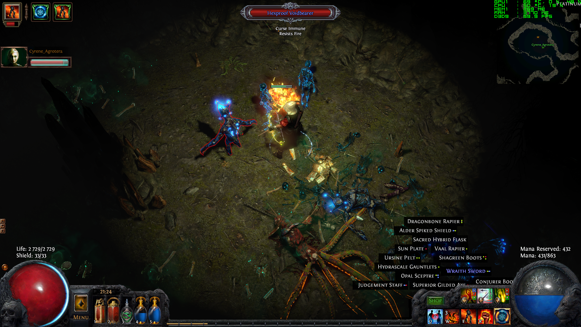 Forum - Bug Reports - Frozen unkillable monsters - Path of Exile