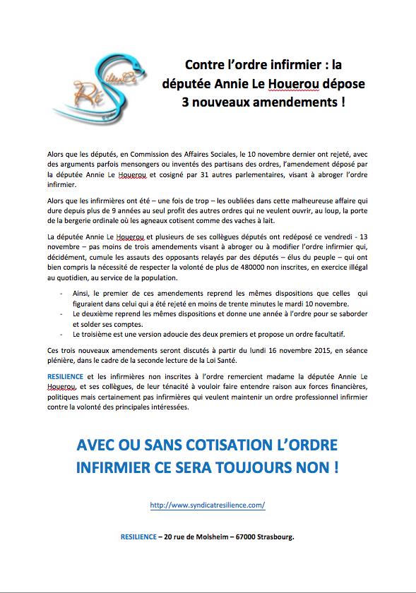 URGENT - EXCLUSIVITE RESILIENCE : ordre infirmier -  la députée Annie Le Houerou dépose 3 nouveaux amendements ! QIv70r