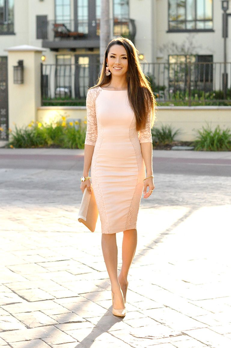 pink dress_bodycon dress_bebe dress_pastel_spring outfit