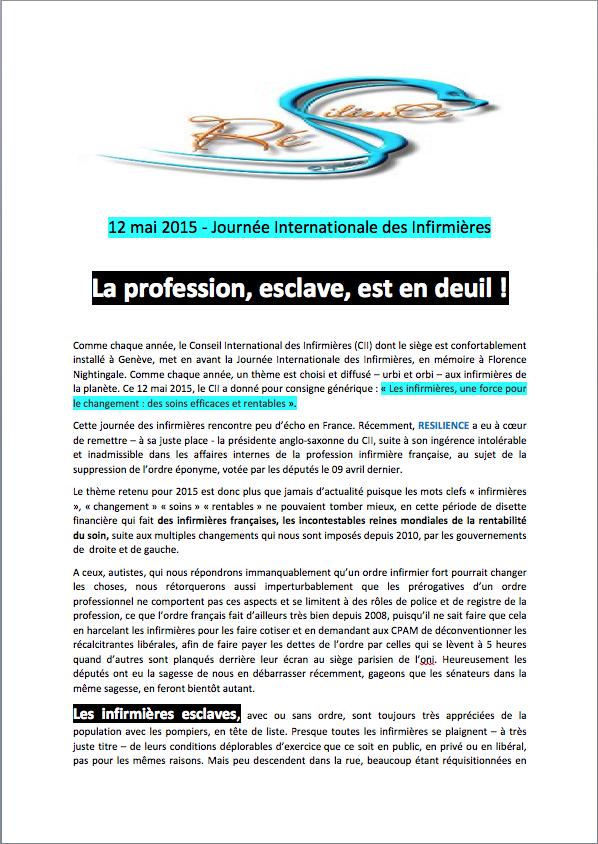 12 mai 2015 - Journée Internationale des Infirmières : la profession, esclave, est en deuil ! XNHF3o