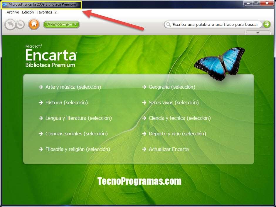 Biblioteca Premium de la Encarta 2009