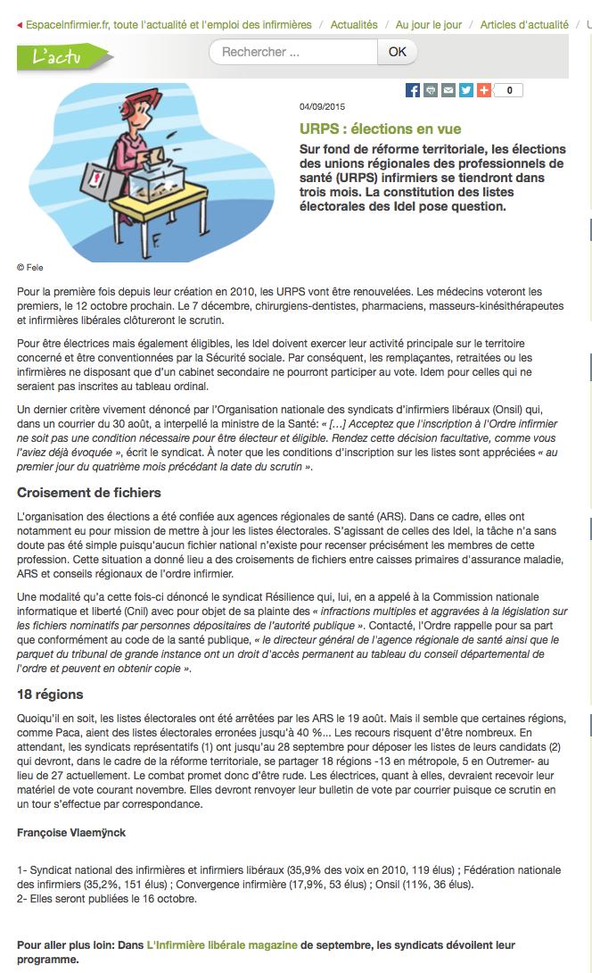 élections aux URPS : grandes manœuvres chez les IDEL ... ImT66B