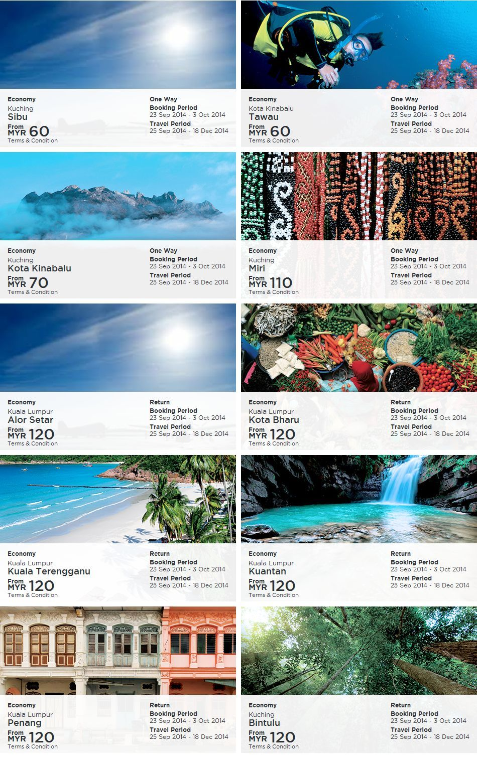 Mas Airlines Deals Of The Day Fares Details