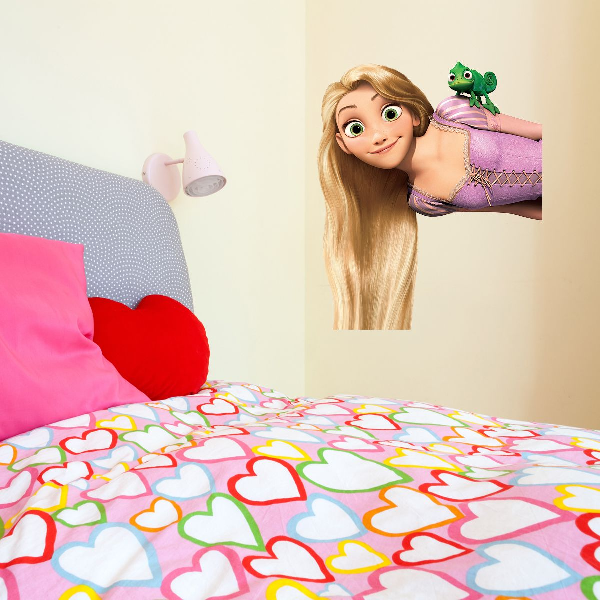 Tangled Rapunzel Kids Girls Bedroom Colour Vinyl Decal