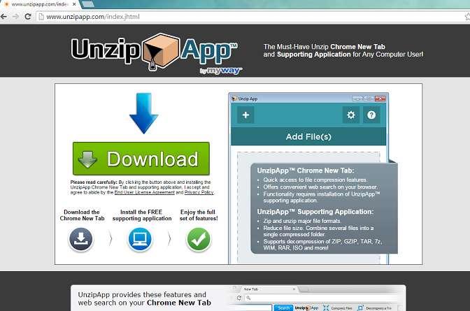 Usuń pasek narzędzi UnzipApp