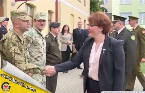 თავდაცვის მინისტრი ლიტვაში ქართველ სამხედროებს შეხვდა