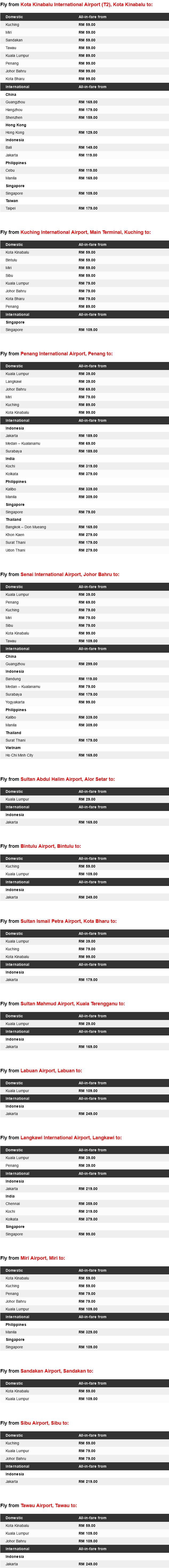AirAsia Low Fares Promo