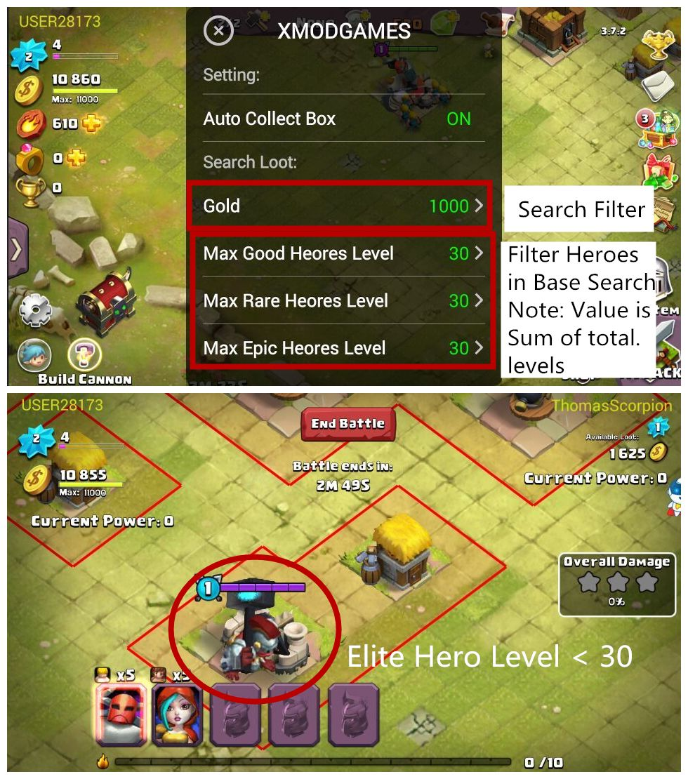 CLASH OF LORDS 2(AUTO COLLECT BOXES&SEARCH