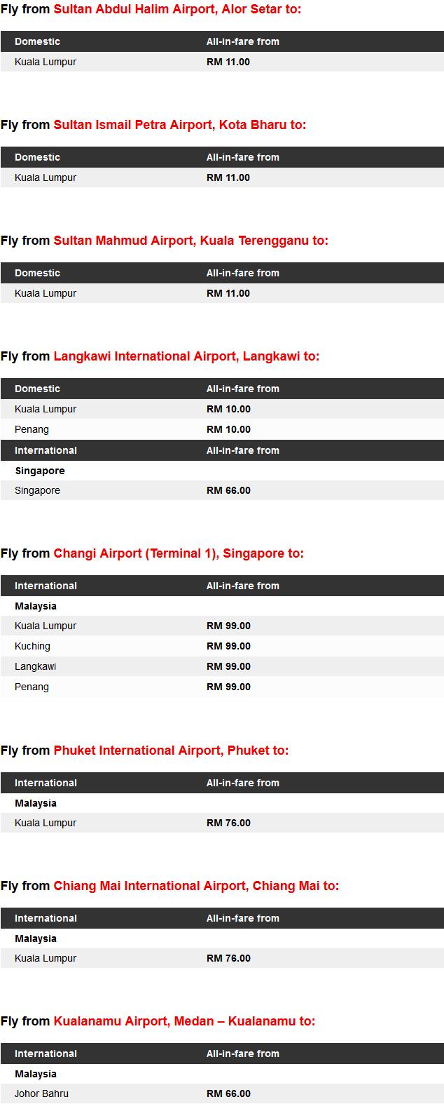 AirAsia RM1 Lowest Fares Promo